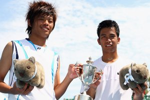 Australian Open Juinor Boys' Doubles Champions -ALcantara and Hsieh. Photo from australianopen.com